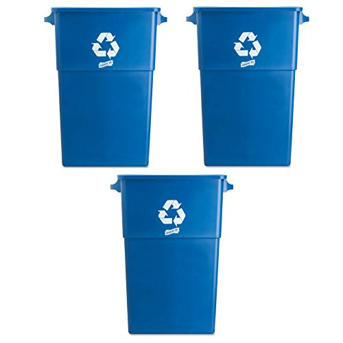 Genuine Joe 23 Gallon Recycling Bin - 3 Pack
