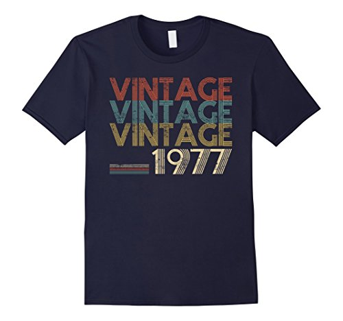 Mens Retro Classic Vintage 1977 – 40th Gift 40 Yrs Years Old Large Navy
