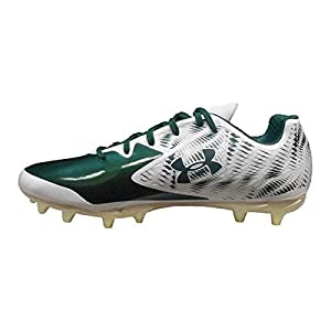 Under Armour Men's Team Nitro Low MC Football Cleats (8.5, White/Green)