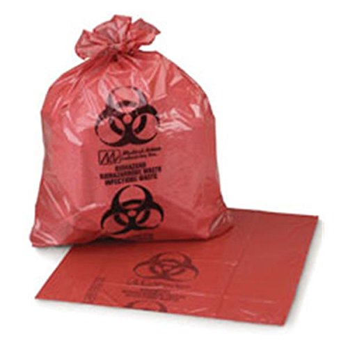 WP000-PT HRD404816 HRD404816 Bag Biohazard 40x48'' 40-45 Gallons HDPE Film Red/Black 250/Ca Medical Action Industries