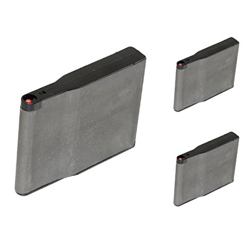 Airsoft Shooting Gear 3pcs Pack Silverback 30rd Steel Magazine For SRS Bullpup Sniper Black by Airsoft Shopping Mall