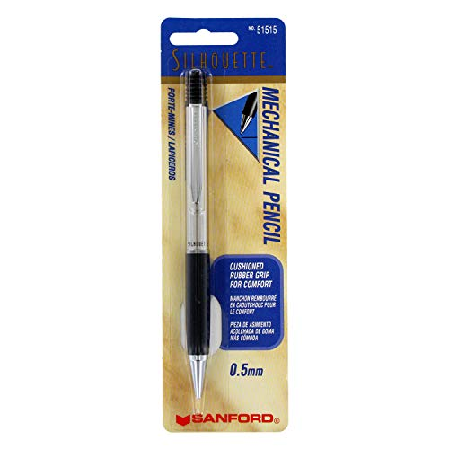 Sanford Silhouette Stainless Steel Mechanical Pencil, 0.5mm, 1-Count