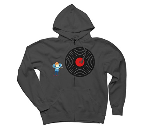 U Rollin' GOOD ! Men's Medium Charcoal Graphic Zip Hoodie - Design By Humans (Parappa The Rapper 2 Ps2)