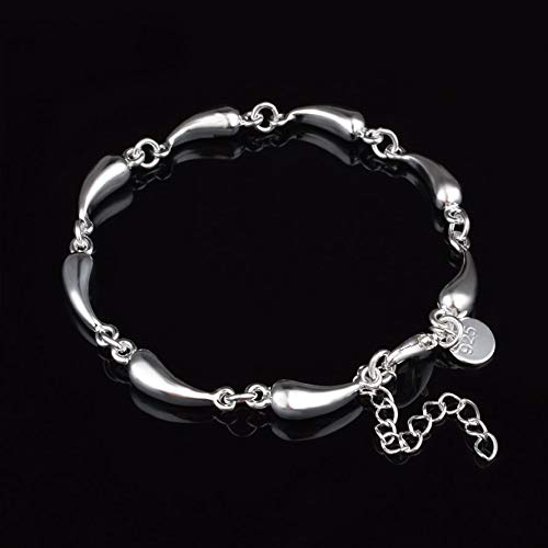 ningbao951 Fashion Alloy Hand Bracelet Personalized Creative Water Drop Bracelet Silver Hand Chain Stylish Women Jewelry