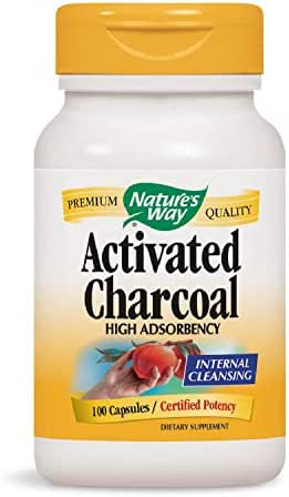 Nature's Way Charcoal Activated; 560 mg Charcoal per serving; 100 Capsules (Packaging May Vary)