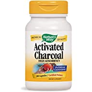 Nature's Way Activated Charcoal; 560 mg Charcoal per serving; 100 Capsules (Packaging May Vary)