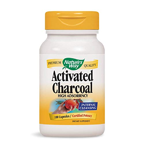 Nature's Way Charcoal Activated; 560 mg Charcoal per serving; 100 Capsules (Packaging May Vary) (Best Cure For Upset Stomach And Vomiting)