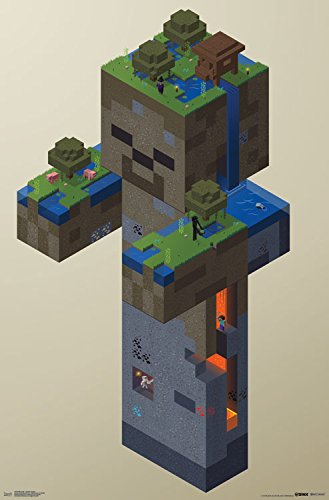 Trends International Minecraft Zombie Swamp Wall Poster 22.375