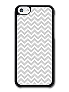 AMAF ? Accessories Chevron Pattern Gray case for iPhone 5C