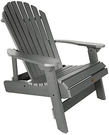 Highwood AD-KING1-CGE Hamilton Folding and Reclining Adirondack Chair, King Size, Coastal Teak