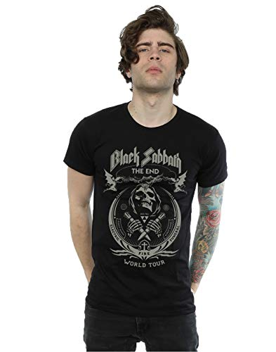 (Black Sabbath Men's The End World Tour T-Shirt Medium Black)