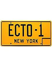 Ghostbusters | ECTO-1 | Metal Stamped Vanity Prop License Plate