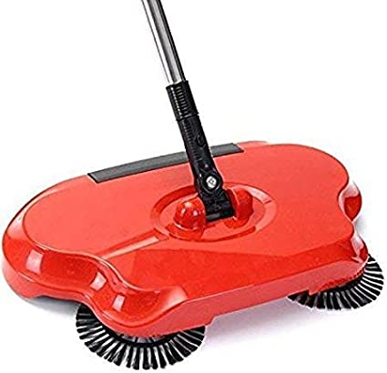 BucketList Wind Auto Spin Hand Push Sweeping Broom for Floor Dust Cleaning Easy to Spin Hand Push Sweeping Broom Floor Dust Cleaning Sweeper Mop
