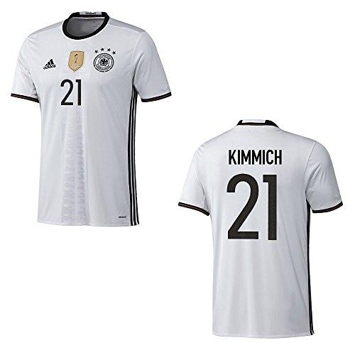 adidas DFB DEUTSCHLAND Trikot Home Kinder EURO 2016 - KIMMICH 21, Größe:152