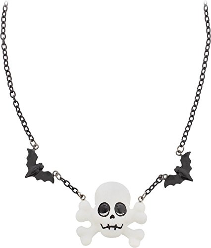 Spooky-Skull-Bat-Necklace-from-Sourpuss-Clothing