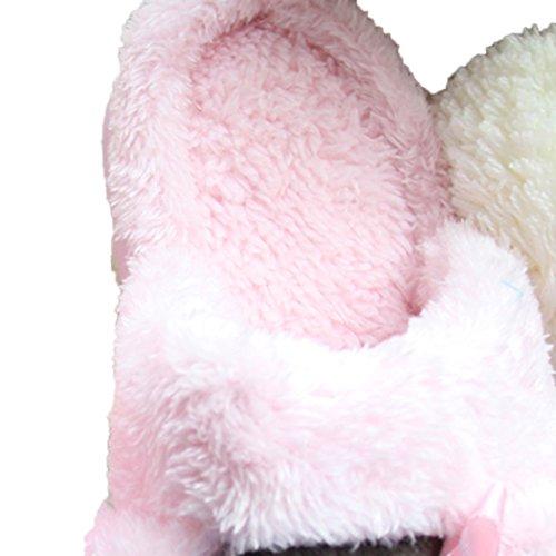 Miyang Winter Cute Cat And Dog Warm House Pantuflas Botines Rosa-gato