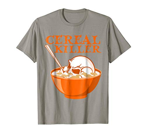 -Shirt-Serial Killer Skull Pun Halloween Tee 2XL Slate ()