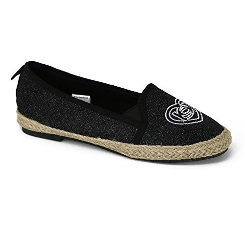 drille Flat Shoe (Big Girl/Little Girl) (12 M US Little Kid, Black) ()