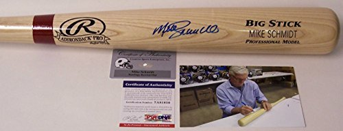 Mike Schmidt Philadelphia Phillies Autographed Hand Signed Adirondack Pro Wood Baseball Bat - (Philadelphia Phillies Hand Signed)