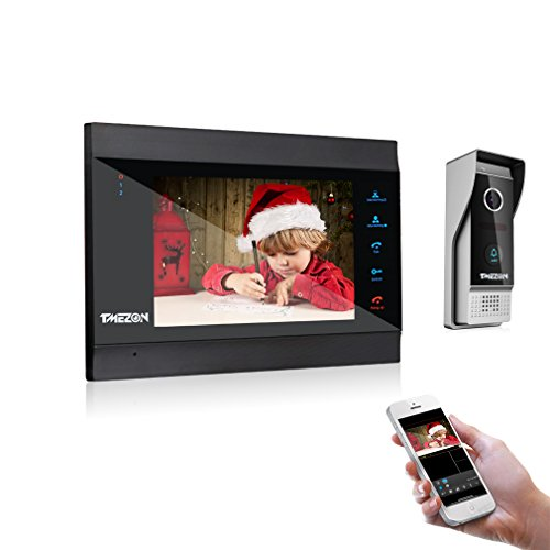"TMEZON 7"" WIFI/Wired Video Doorphone TFT Color LCD Display V"