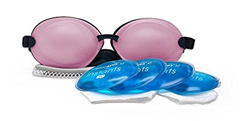 Tranquileyes XL Warm Compress with Self-Heating Instants for Severe Dry Eye Relief (Soft Pink)