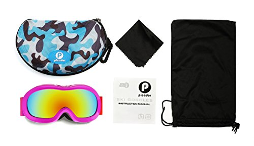 Picador Ski & Snow Goggles with Dual Layer Anti Fog Lens for Kids