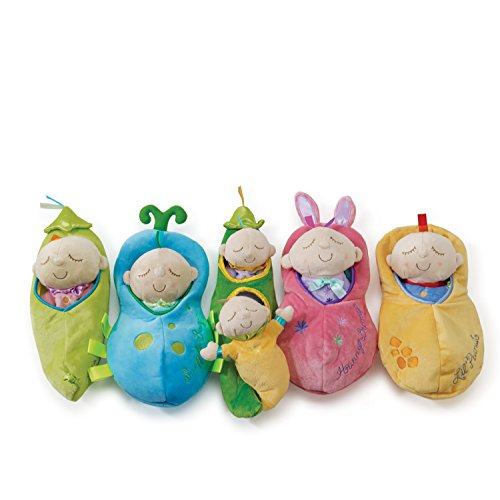 41VL3e6DOxL - Manhattan Toy Snuggle Pod Hunny Bunny First Baby Doll with Cozy Sleep Sack for Ages 6 Months and Up