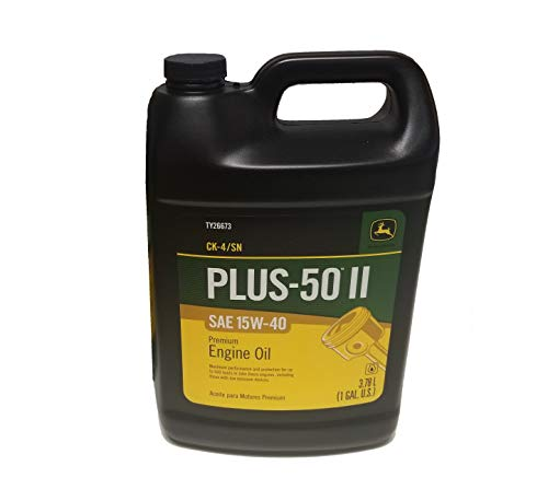John Deere Original Equipment 1 Gallon Plus-50 II SAE 15W-40 Oil #TY26673 ()
