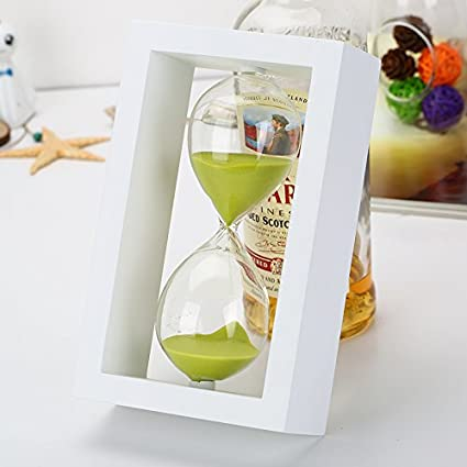 amazon com 10 minute hourglass glass sand timer sand mini clock