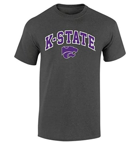 Kansas State Wildcats TShirt Arch Charcoal - L