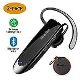 [2 Pack] Bluetooth Headset New Bee 24Hrs V4.2 Bluetooth Earpiece Wireless Handsfree Driving