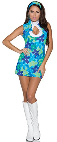 Underwraps Women's Flower, Blue/Green, -