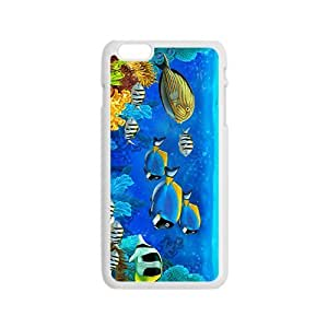 Cartoon Sea World Hight Quality Plastic Case for Iphone 6