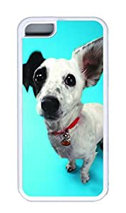 iphone 5C case,custom iphone 5C case,TPU Material,Drop Protection,Shock Absorbent,Customize your own cell phone case pattern,white case,White the little black dog