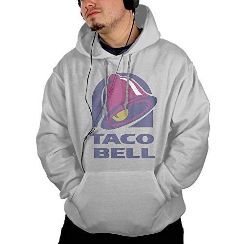 Men's Hooded Pocket Sweater Sun Illuminati Triangle Art Majestic Bell with Taco Fashion Classic Style Ash M (Bell Lightweight Sweater)