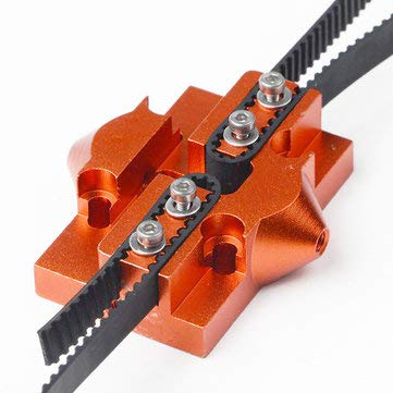 (M3/M4 3D Printer Metal Delta Pulley Slide Hanging Effector - 3D Printer & Supplies 3D Printer Accessories - (M3-2015mm black) - 1 x M3 Delta Kossel Fisheye Effector, 3 x screws)
