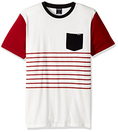 Short Sleeve Front Pocket (Zoo York Men's Short Sleeve Crew Shirt with Front Pocket, Krisp Cream, Medium)