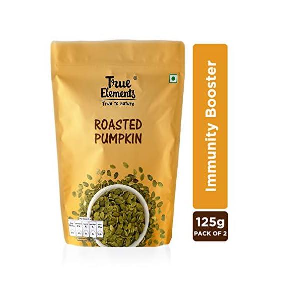 True Elements Roasted Pumpkin Seeds 250gm (125gm * 2)