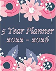 2022-2026 5 Year Planner: Large At-a-Glance Monthly Planner and Calendar | 60 Months Agenda & Schedule Organizer with Business & Personal Goals | Five Years Appointment Notebook