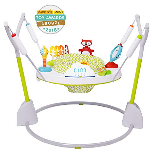 Skip Hop Explore & More Jumpscape Fold-Away Baby Jumper with Bounce Counter, Multi-Colored ()