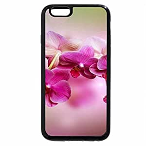 iPhone 6S / iPhone 6 Case (Black) Pink floral branche