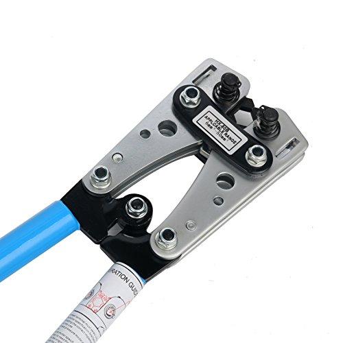 Yaetek Cable Crimper Cable Lug Crimping Tool Wire Crimper Hand Ratchet Terminal Crimp Pliers Wire Terminal Crimping Tool 6-50mm² Cable Lug Crimper Cu/Al Terminal for 10, 8, 4, 2, 1/0 AWG Wire Cable by YaeTek (Image #5)
