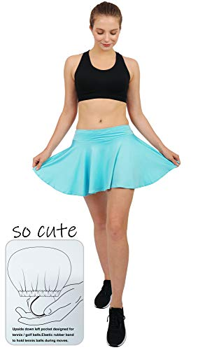 Women's Built-in Shorts Skirts Swim Fitness Pleated Active Running Tennis Golf Skorts/Leggings