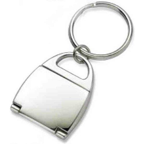 Aeropen International K-112 Silver Flip Open Purse Photo Frame and Mirror Key Ring