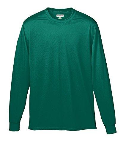 Augusta Sportswear Wicking Long Sleeve T-Shirt, XX-Large, Dark Green