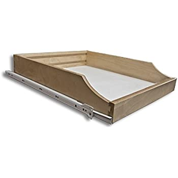 Amazon Com Cabinet Roll Out Trays Wood Pull Out Tray