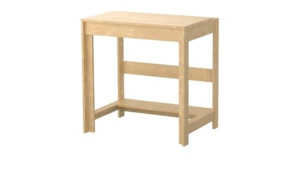IKEA LAIVA - Escritorio, efecto abedul - 70x50 cm: Amazon.es ...