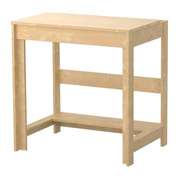 Klein Ikea Bureau.Ikea Laiva Bureau Effet Bouleau 70x50 Cm Amazon Fr Cuisine