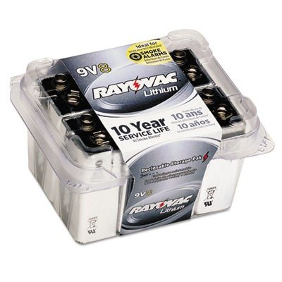 Ray-O-Vac R9VL8 Lithium Batteries, 9V, 8/Pack by Rayovac