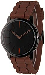New Geneva Brown w/ Black Silicone Watch